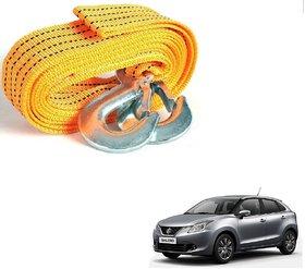Auto Addict Heavy Duty Car Nylon Towing Rope 3000Kgs Pull Capacity (Yellow, 3.5 m) For Maruti Suzuki Baleno Nexa