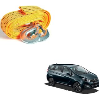 Auto Addict Heavy Duty Car Nylon Towing Rope 3000Kgs Pull Capacity (Yellow  3.5 m) For Mahindra Marazzo