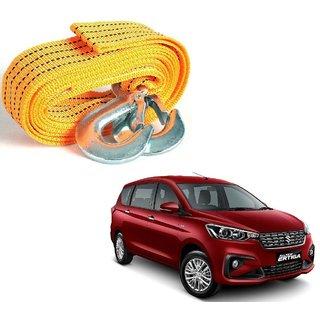 Auto Addict Heavy Duty Car Nylon Towing Rope 3000Kgs Pull Capacity (Yellow  3.5 m) For Maruti Suzuki Ertiga New 2019