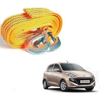 Auto Addict Heavy Duty Car Nylon Towing Rope 3000Kgs Pull Capacity (Yellow  3.5 m) For Hyundai Santro New 2018