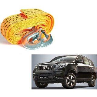 Auto Addict Heavy Duty Car Nylon Towing Rope 3000Kgs Pull Capacity (Yellow  3.5 m) For Mahindra XUV 700 (Alturas G4)