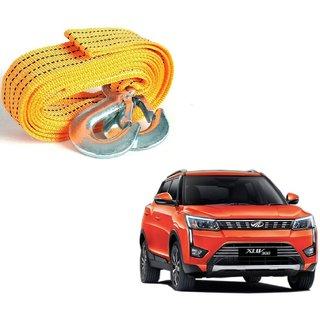 Auto Addict Heavy Duty Car Nylon Towing Rope 3000Kgs Pull Capacity (Yellow  3.5 m) For Mahindra XUV 300