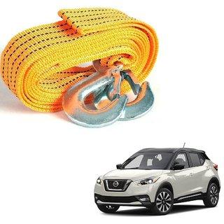 Auto Addict Heavy Duty Car Nylon Towing Rope 3000Kgs Pull Capacity (Yellow  3.5 m) For Nissan Kicks