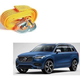 Auto Addict Heavy Duty Car Nylon Towing Rope 3000Kgs Pull Capacity (Yellow  3.5 m) For Volvo XC90
