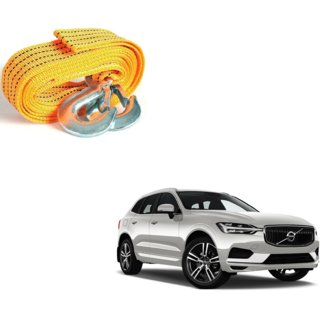 Auto Addict Heavy Duty Car Nylon Towing Rope 3000Kgs Pull Capacity (Yellow  3.5 m) For Volvo XC60