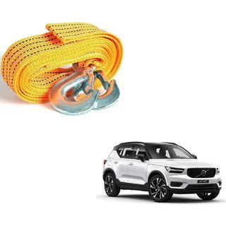 Auto Addict Heavy Duty Car Nylon Towing Rope 3000Kgs Pull Capacity (Yellow  3.5 m) For Volvo XC40