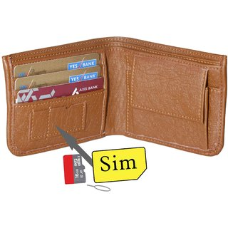 Forrester Brown Leatherite Single fold Wallet For Men (Synthetic leather/Rexine)