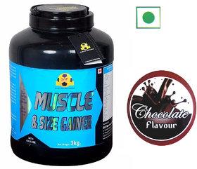 Sap Nutrition Muscle Size Gainer 3kg Jar Chocolate Flavour