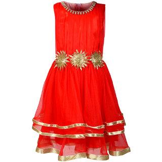 Arshia Fashions Girls Party Wear Frock Dress