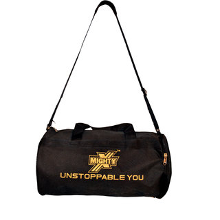 MightyX Duffel Gym Bag in Black Color