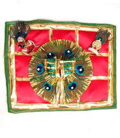 Avneesh Laddu Gopal Poshak , Safa , Mukut And Rajai Combo ( Size-1)Color May Very