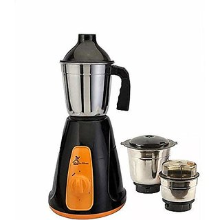 Green Home Aqua black Orange 450 W Mixer Grinder(Multicolor 3 Jars)