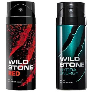 Wild Stone Red,Hydra Energy Spray - For Men (150 ml each),pack of 2