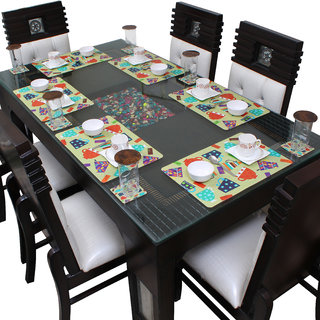Dream Care Table Mats for Dining Table with Coasters Set of 06 (06 Mat + 06 Coaster)