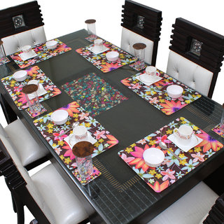 Dream Care Printed Placemats with Coasters Set of 6 (6Pcs Mat + 6Pcs Coaster)