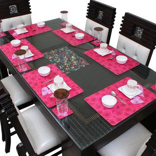 Dream Care Dining Table Placemats Set of 6 (6Pcs Mat + 6Pcs Coaster)