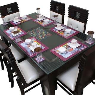 Dream Care Dining Table Placemats With Coasters Set of 6 (6Pcs Mat + 6Pcs Coaster)