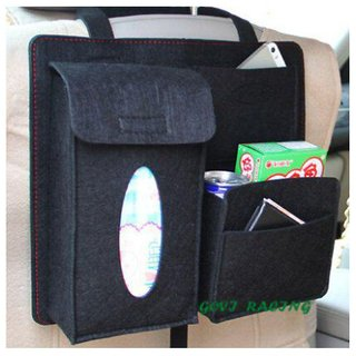 gaze me Multi Pocket Organizer for Rear Black