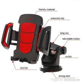 Universal Car Holder Cell Phone Holder Easy One Touch with Strong Stick Suction Cup Gps Support Car Phone Mount