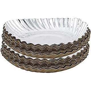 Silver Coated Disposable Party Paper Plate 10 (50 Pcs) By Dish One