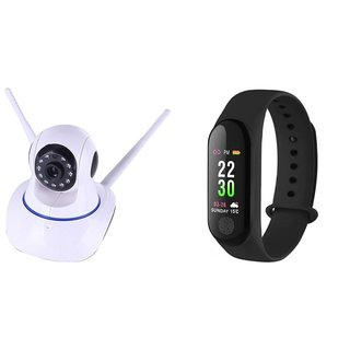Wifi Camera & M3 fitness band Dual Antenna 720P Wifi IP P2P Wireless Wifi Camera CCTV Night Vision Outdoor Waterproof security Network Monitor||So Best and Quality Compatible with all smartphones