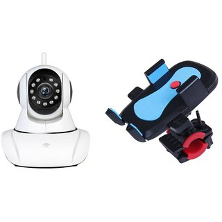 Wifi Camera & Bike Mobile Holder|Dual Antenna 720P Wifi IP P2P Wireless Wifi Camera CCTV Night Vision Outdoor Waterproof security Network Monitor||So Best and Quality Compatible with all smartphones