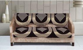 Shiv kirpa 3 Seater sofa cover Pcs Of 6 ( 3 Pcs Back Cover + 3 Pcs Seat Cover)