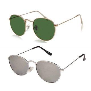 Debonair Unisex Round Sunglasses Combo