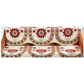 Shiv kirpa Multi Cover  3 Seater Sofa Cover Pcs Of 6 ( 3 Pcs Back Cover + 3 Pcs Seat Cover)