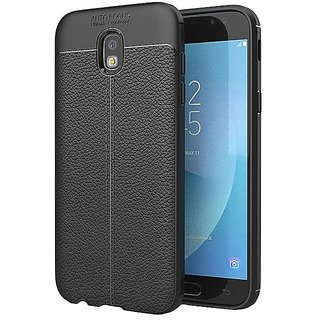 TPU Flexible Auto Focus Shock Proof Back Cover For Samsung Galaxy J7 Pro  Black