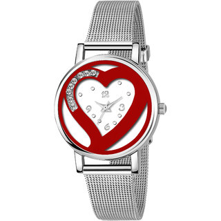True Colors High Selling Miss Valentine Red Hart Women Analog Watch For Women Watch