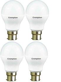 Crompton 5Watt + 7Watt LED Bulb (Pack of 4, Cool Day Light)