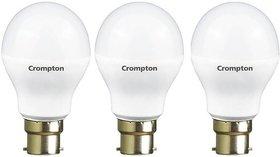 Crompton 12Watt + 5Watt LED Bulb (Pack of 3, Cool Day Light)