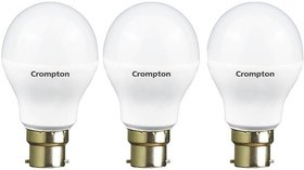 Crompton 12Watt + 7Watt LED Bulb (Pack of 3, Cool Day Light)