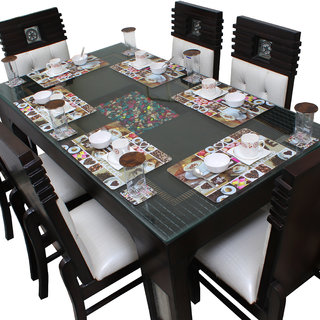Dream Care Placemats for Dining Table With Coasters Set of 6 (6Pcs Mat + 6Pcs Coaster)