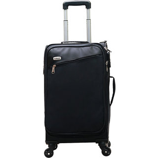 Timus Cameroon Plus 55 CM 4 Wheel Strolley Suitcase For Travel Cabin Luggage Trolley Bag (Black)