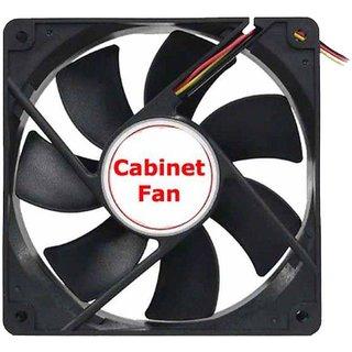 DC 12V Cabinet Cooling Fan Black for PC Case CPU Cooler Radiator
