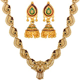 Hiral Treditional Ethnic Mix Combo of Necklace  Earrings For Classic Women Girls