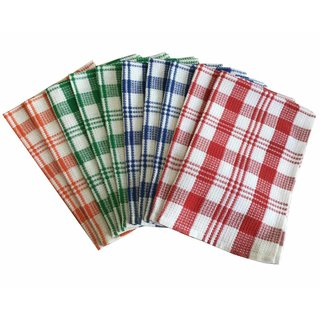 Lushomes Super Absorbent Pack of 10 Kitchen Towels (45 x 70 cms Pack of 10 Assorted over 4 colours)