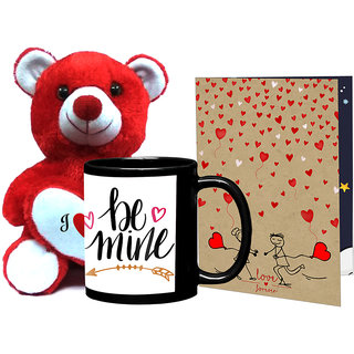 Buy Lof Valentine Teddy I Love You With Heart Gift Red Teddy Gift