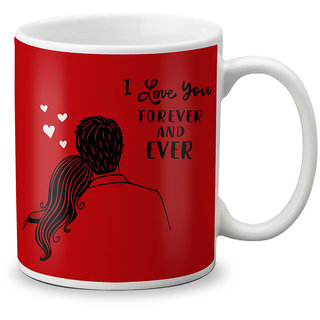 LOF Happy 1st First Valentine's Day Gift for Love My Life Special Girlfriend,Boyfriend,Wife,Husband Cute and Beautiful Best Love Qutation Mug 002