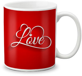 LOF Happy 1st First Valentine's Day Gift for Love My Life Special Girlfriend,Boyfriend,Wife,Husband Cute and Beautiful Best Love Qutation Mug 030