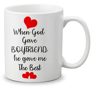 LOF Happy 1st First Valentine's Day Gift for Love My Life Special Girlfriend,Boyfriend,Wife,Husband Cute and Beautiful Best Love Qutation Mug 069