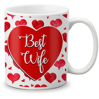 LOF Happy 1st First Valentine's Day Gift for Love My Life Special Girlfriend,Boyfriend,Wife,Husband Cute and Beautiful Best Love Qutation Mug 079