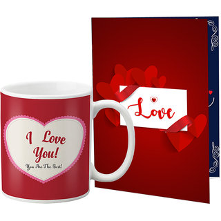 LOF Printed Coffee Mug With A4 Greeting Card Full Printed -0063