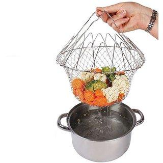 Chef Basket Cooker Strainer 12 In 1 Kitchen Tool Cooks Net - Flexible Kitchen Helper Kitchen Tool