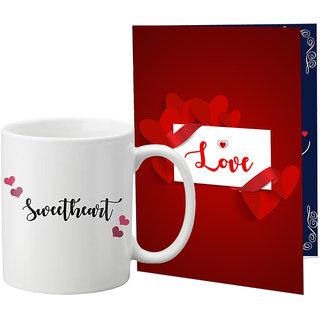 LOF Printed Coffee Mug With A4 Greeting Card Full Printed -0070