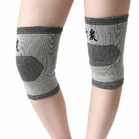 Lovato  Basic Pain Relief Bamboo Charcoal Knee Support (1 Pair)
