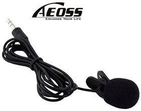 Aeoss 3.5mm Hands Free Computer Clip on Lapel Lavalier Microphone