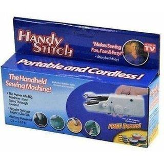 TAGORE Electric Mini Sewing Machine Handheld Handy Stitch Machine Craft Sewing Machine White